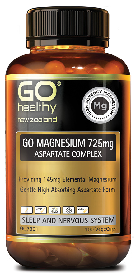 GO MAGNESIUM 725MG - ASPARTATE COMPLEX (100 VCAPS)