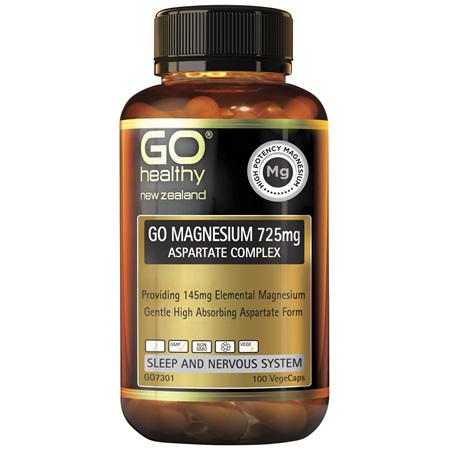 GO Magnesium 725mg Aspartate Complex 100vcaps