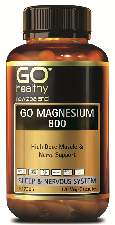 GO MAGNESIUM 800 - High Dose Muscle & Nerve Support (120 Vcaps)