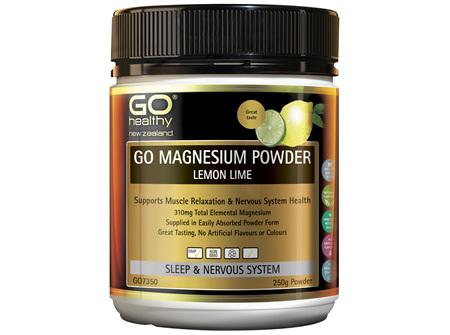 GO Magnesium Powder Lemon Lime 250g