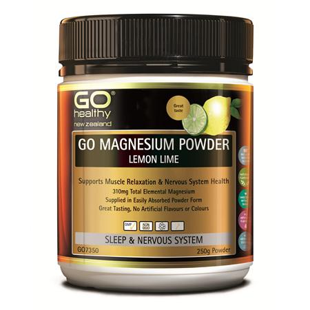 GO Magnesium Powder Lemon & Lime 250g
