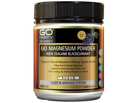 GO Magnesium Powder NZ Blackcurrant 250g