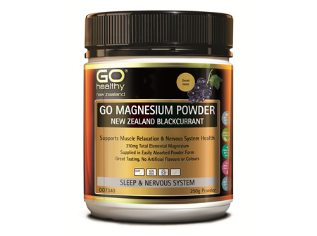 GO MAGNESIUM POWDER NZ BLACKCURRANT - 250G