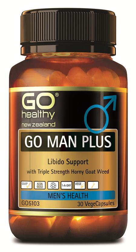 GO MAN PLUS - LIBIDO SUPPORT FOR MEN (30 VCAPS)