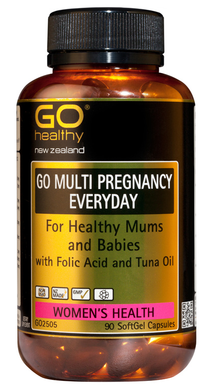 GO MULTI PREGNANCY EVERYDAY - For Healthy Mums and Babies (90 caps)