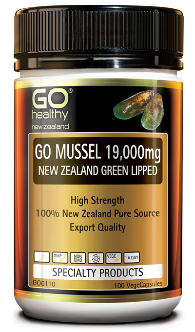 GO MUSSEL 19,000mg - New Zealand Green Lipped (100 VCaps)