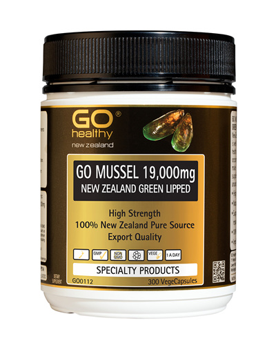 GO MUSSEL 19,000mg - New Zealand Green Lipped (300 VCaps)