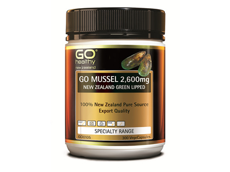 GO MUSSEL 2,600MG - NEW ZEALAND GREEN LIPPED (300 VCAPS)