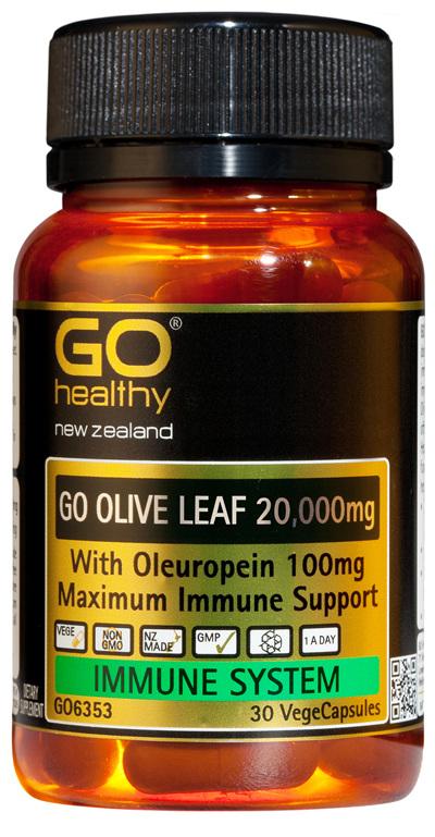 GO OLIVE LEAF 20,000mg - Maximum Immune Support (30 Vcaps)