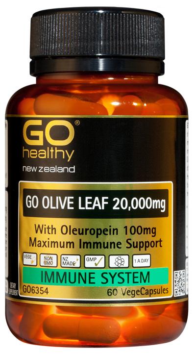 GO OLIVE LEAF 20,000mg - Maximum Immune Support (60 Vcaps)