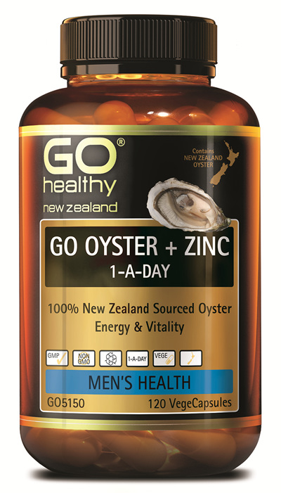 GO OYSTER + ZINC 1-A-DAY - 100% New Zealand Sourced Oyster (120 Vcaps)