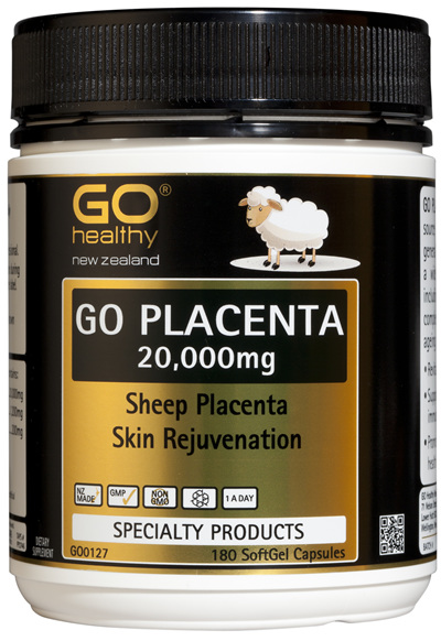 GO PLACENTA 20,000mg  - Skin Rejuvenation (180 Caps)
