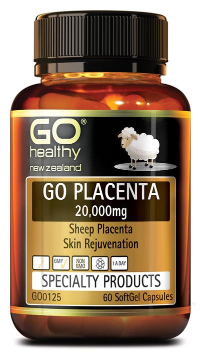 GO PLACENTA 20,000mg  - Skin Rejuvenation (60 Caps)