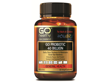 GO PROBIOTIC 40 BILLION - HOWARU RESTORE® (SHELF STABLE PROBIOTICS) (60 VCAPS)