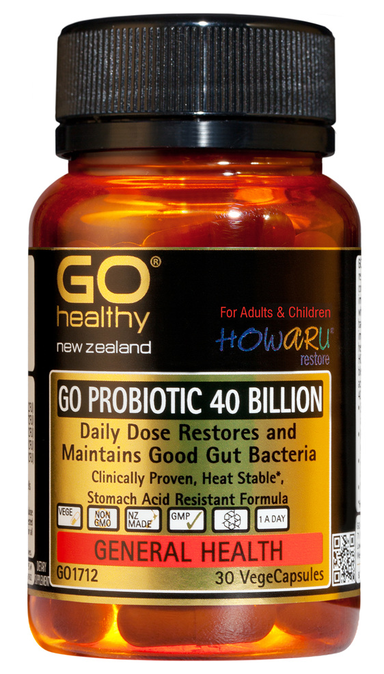 GO PROBIOTIC 40 BILLION - HOWARU Restore (Shelf Stable Probiotics) (30 Vcaps)