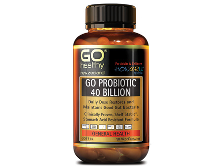 GO PROBIOTIC 40 BILLION - HOWARU RESTORE® (SHELF STABLE PROBIOTICS) (90 VCAPS)