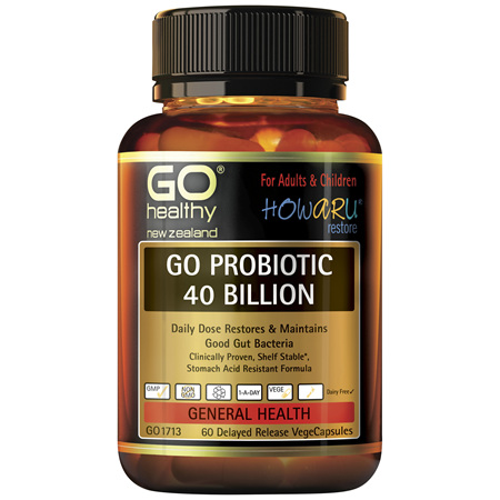 GO Probiotic 40B HOWARU Restore 60