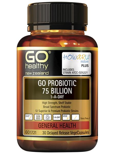 GO Probiotic 75 Billion 1-A-Day 30 VCaps