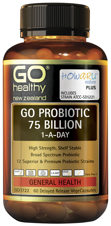 GO Probiotic 75 Billion 1-A-Day 60 VCaps