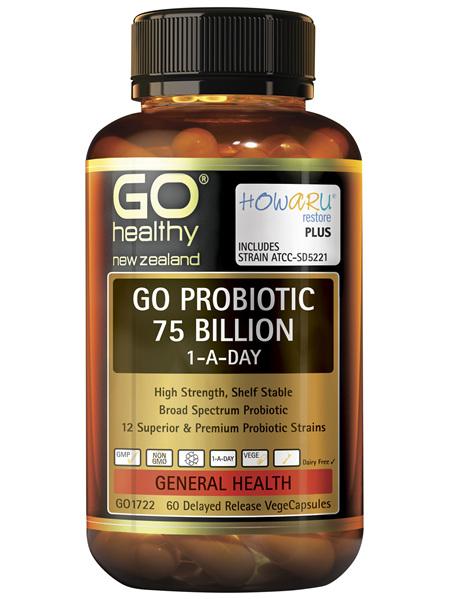 GO Probiotic 75 Billion 1-A-Day 60 VCaps