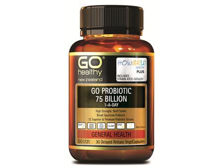 GO PROBIOTIC 75 BILLION - HOWARU RESTORE® (SHELF STABLE PROBIOTICS) (30 VCAPS)