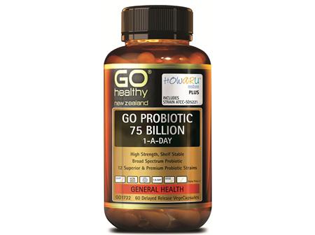 GO PROBIOTIC 75 BILLION - HOWARU RESTORE (SHELF STABLE PROBIOTICS) (60 VCAPS)