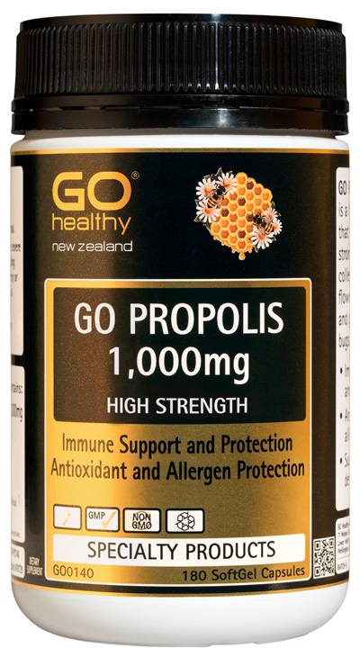 GO PROPOLIS 1,000mg - High Strength Immune Support & Protection (180 Caps)