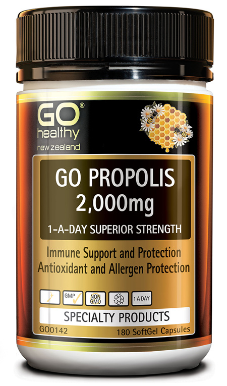 GO PROPOLIS 2,000MG - 1-A-DAY SUPERIOR STRENGTH (180 CAPS)