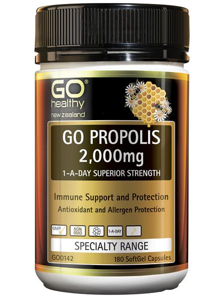 GO Propolis 2,000mg 1-A-DAY 180 Caps