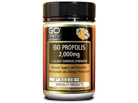 GO PROPOLIS 2,000MG - 1-A-DAY SUPERIOR STRENGTH (180 CAPS)