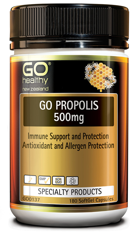 GO PROPOLIS 500MG - IMMUNE SUPPORT & PROTECTION (180 CAPS)