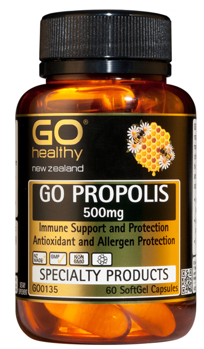 GO PROPOLIS 500mg - Immune Support & Protection (60 Caps)