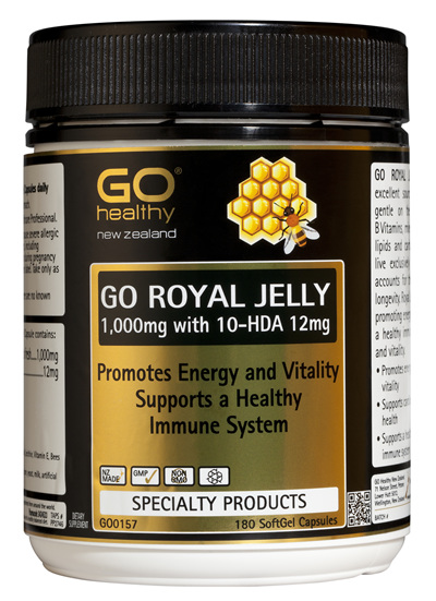 GO ROYAL JELLY 1,000mg - Promotes Energy & Vitality (180 Caps)