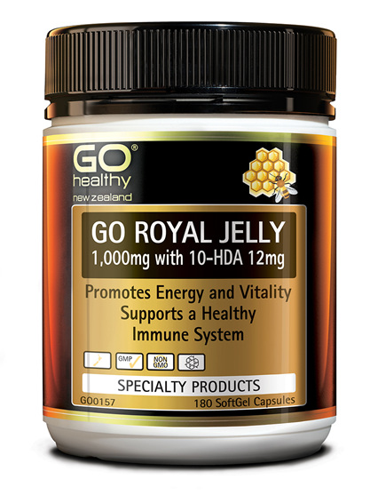 GO ROYAL JELLY 1,000MG - PROMOTES ENERGY & VITALITY (180 CAPS)