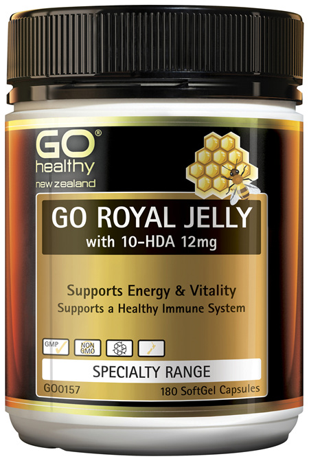 GO Royal Jelly with 10-HDA 12mg 180 Caps