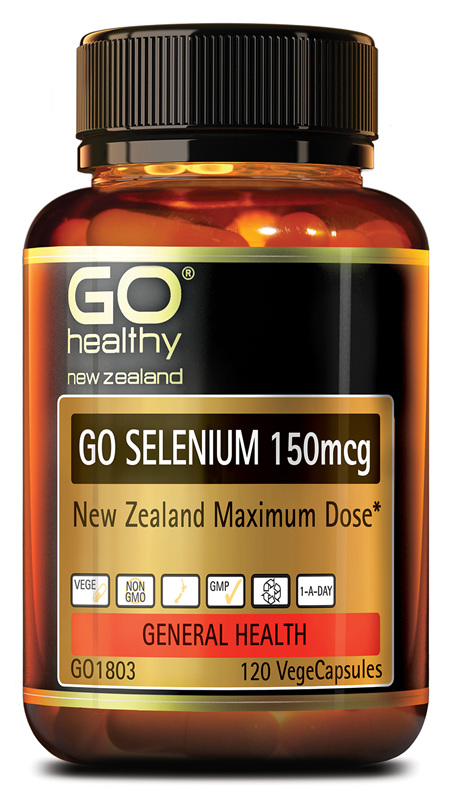 GO SELENIUM 150mcg - NZ Maximum Supplement Dose (120 Vcaps)