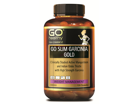 GO SLIM GARCINIA GOLD - CLINICALLY STUDIED ACTIVE MANGOSTEEN (120 CAPS)