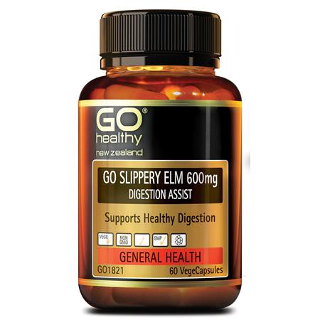 GO Slippery Elm 600mg 60vcaps