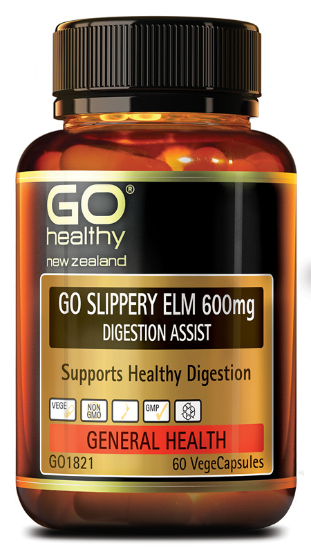 GO SLIPPERY ELM 600MG - DIGESTION SUPPORT (60 VCAPS)