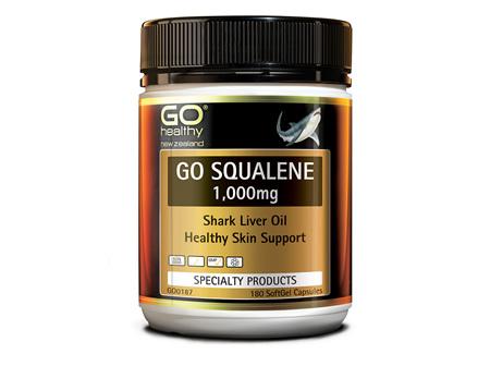 GO SQUALENE 1,000MG - SHARK LIVER OIL (180 CAPS)
