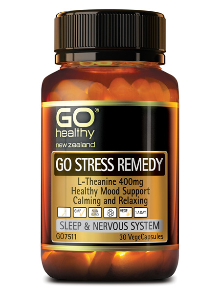 GO STRESS REMEDY - L-THEANINE 400MG (30 VCAPS)