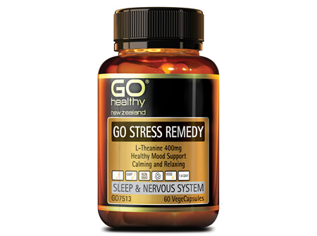 GO STRESS REMEDY - L-THEANINE 400MG (60 VCAPS)