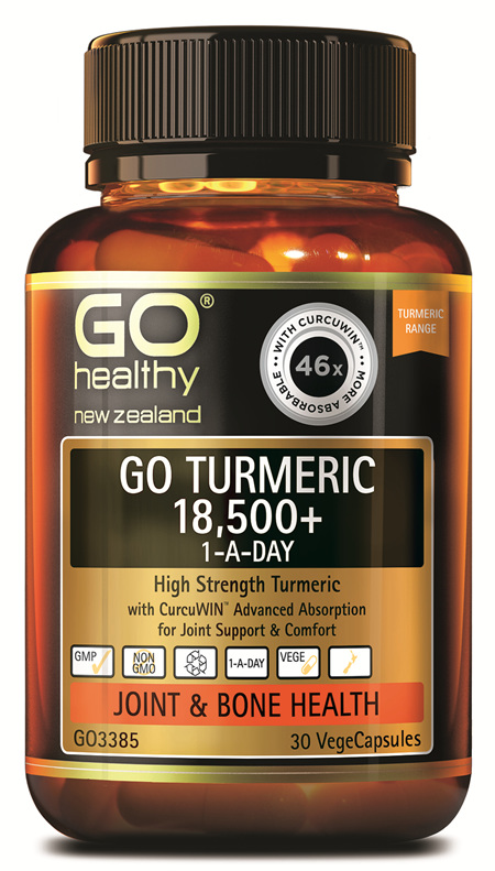 GO TURMERIC 18,500+ 1-A-DAY - High Strength Turmeric (30 Vcaps)