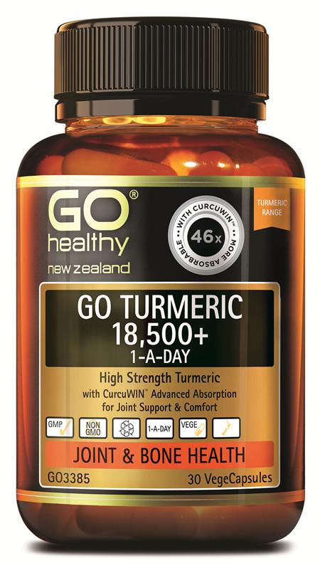 GO TURMERIC 18,500+ 1-A-DAY - HIGH STRENGTH TURMERIC (30 VCAPS)