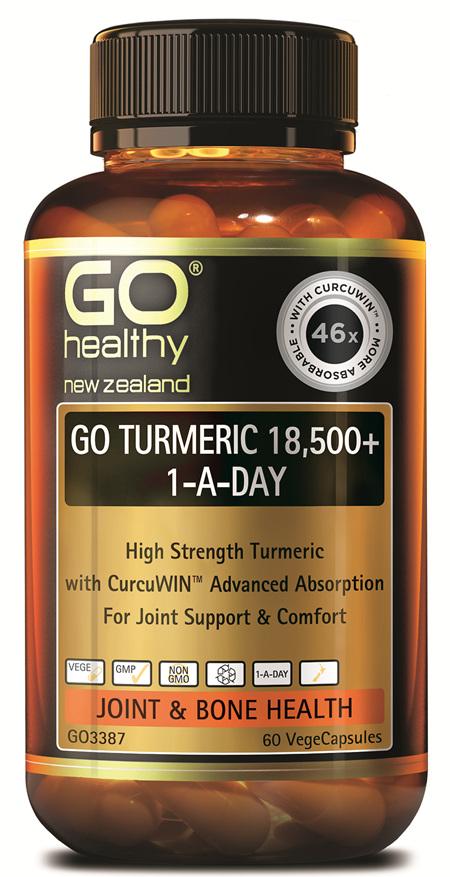 GO TURMERIC 18,500+ 1-A-DAY - HIGH STRENGTH TURMERIC (60 VCAPS)