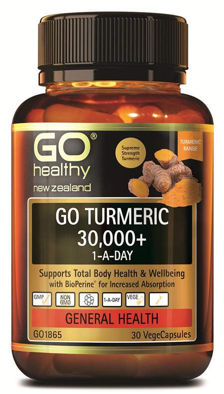 GO TURMERIC 30,000+ 1-A-DAY (30 VCAPS)