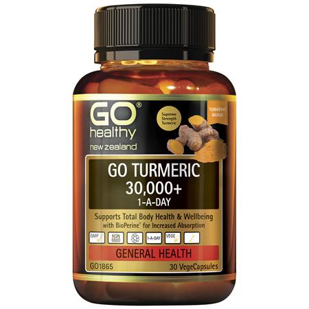 GO Turmeric 30000+ 1-A-Day 30Vcap