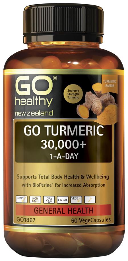 GO Turmeric 30,000+ 1-A-Day 60 VCaps