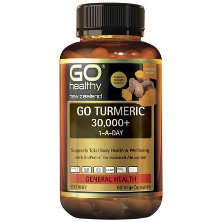 GO Turmeric 30000+ 1-A-Day 60Vcap