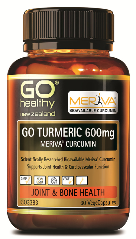 GO TURMERIC 600MG MERIVA CURCUMIN - SUPPORTS JOINT HEALTH (60 VCAPS)